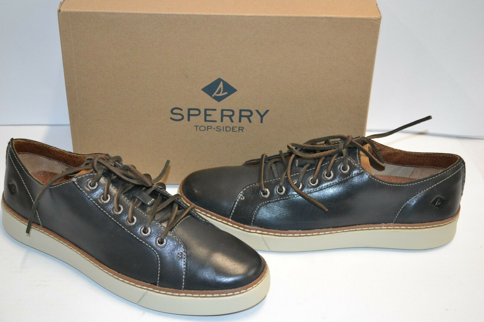 Scarpe casual da uomo  Sperry Top-Sider uomos Clipper LTT Oxford Charcoal LEATHER SNEAKER SHOE 10.5 M