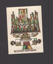 "EXLIBRIS, 042b - Josef Liesler "" Ex musicis - Orgel "" - signiert / signed"
