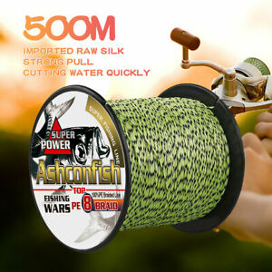 8-Strands-100-300-500m-Multifilament-Line-Mixed-Color-Spot-Braided-Fishing-line