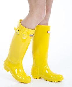 Mujer Botas agua - Mujer Amarillo Botas de agua - Size 8GB - EU 42