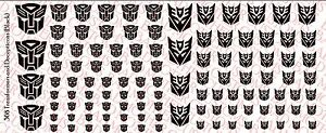 Scale Custom Waterslide Decals OPAQUE X-Men Logos White with black outline