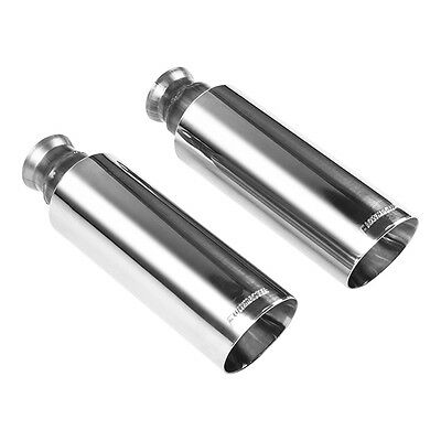 "Flowmaster 304S Polished 4.0/"" Angle Cut Exhaust Tips 09-17 Dodge Ram 1500 5.7L"