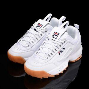 cd6ac0b68d43 FILA Disruptor II 2 White Brown Shoes Running Unisex Size UK 3-9 ...