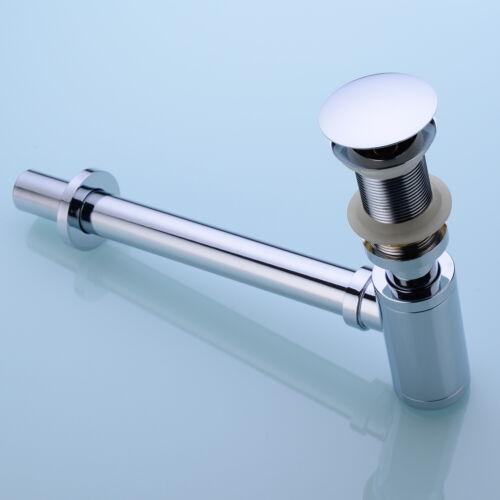 Ablaufgarnitur Siphon Pop-Up Ablaufventil Push-Up Waschbecken ohne Überlauf