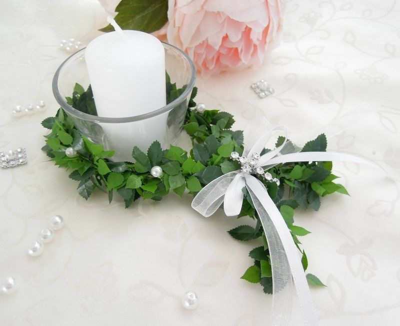 Tischdeko Kommunion Konfirmation Taufe Fische Votivglas Kerzen Firmung Windlicht