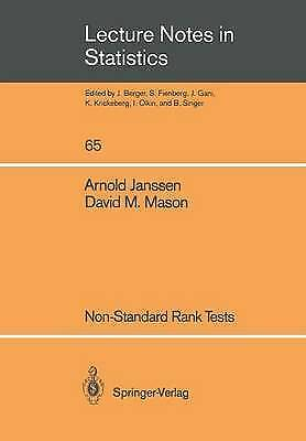 Non-Standard Rank Tests (Lecture Notes in Statistics) (v. 65) by Janssen, Arnol