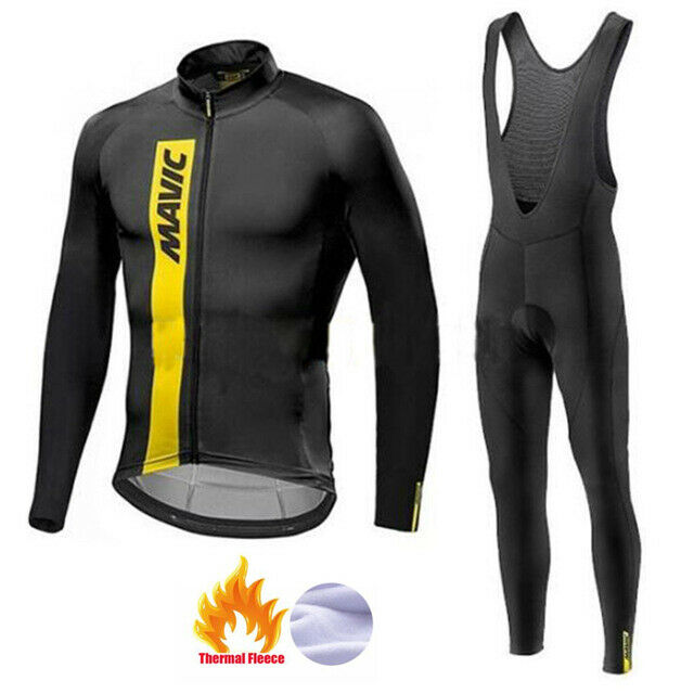 2019 MAVIC Cycling Clothing Suit Winter Thermale Fleece Cycling Jersey Set Racing