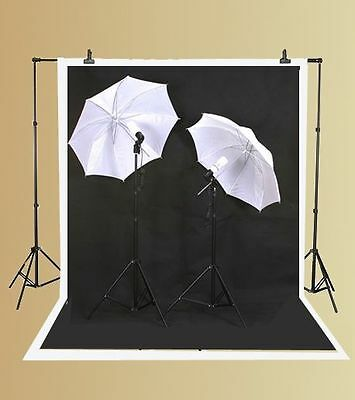 Backdrop Support Stand Photography Studio Video 3 Softbox Boom Lighting 10x12 BW