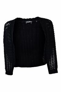 DOLCE-amp-GABBANA-BLACK-COTTON-CROCHET-KNIT-BOLERO-SHRUG-44