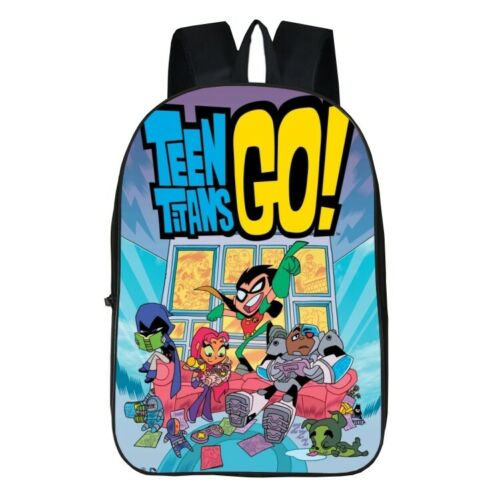 3D Cartoon Teen Titans Go Backpack Kids School Bag Laptop Satchel Rucksack UK