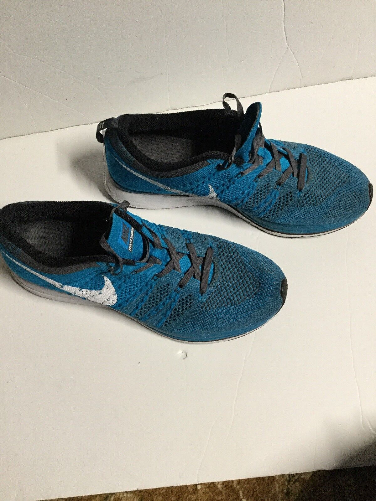 Nike Flyknit Trainer Size Size Size 9 Neo Turquoise Sneaker 532984-410. ff35a9