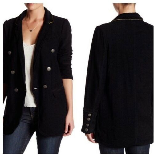 Free People Long Chenille Blazer Military Jacket