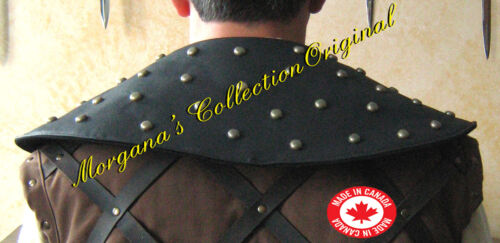 Medieval Armor Leather Padded Collar with Studs