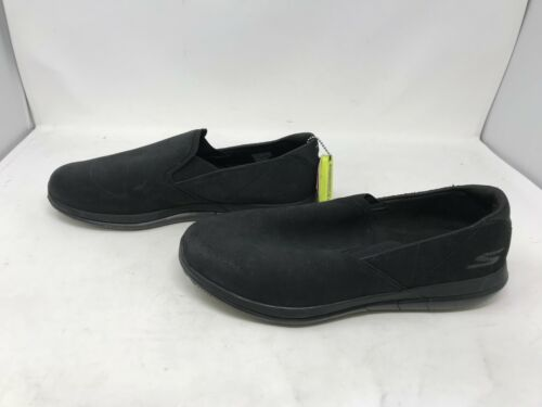 418o 54012 Mens Skechers GO FLEX WALK COMRADE Black Sneakers