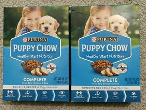2-BOXES-Purina-Puppy-Chow-Complete-With-Real-Chicken-Dry-Puppy-Food-Lot-of-2