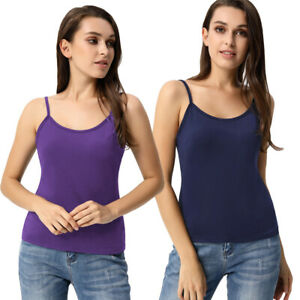 Curlbiuty-Women-039-s-Basic-Adjustable-Spaghetti-Strap-Cami-Camisole-Tank-Top-Casual