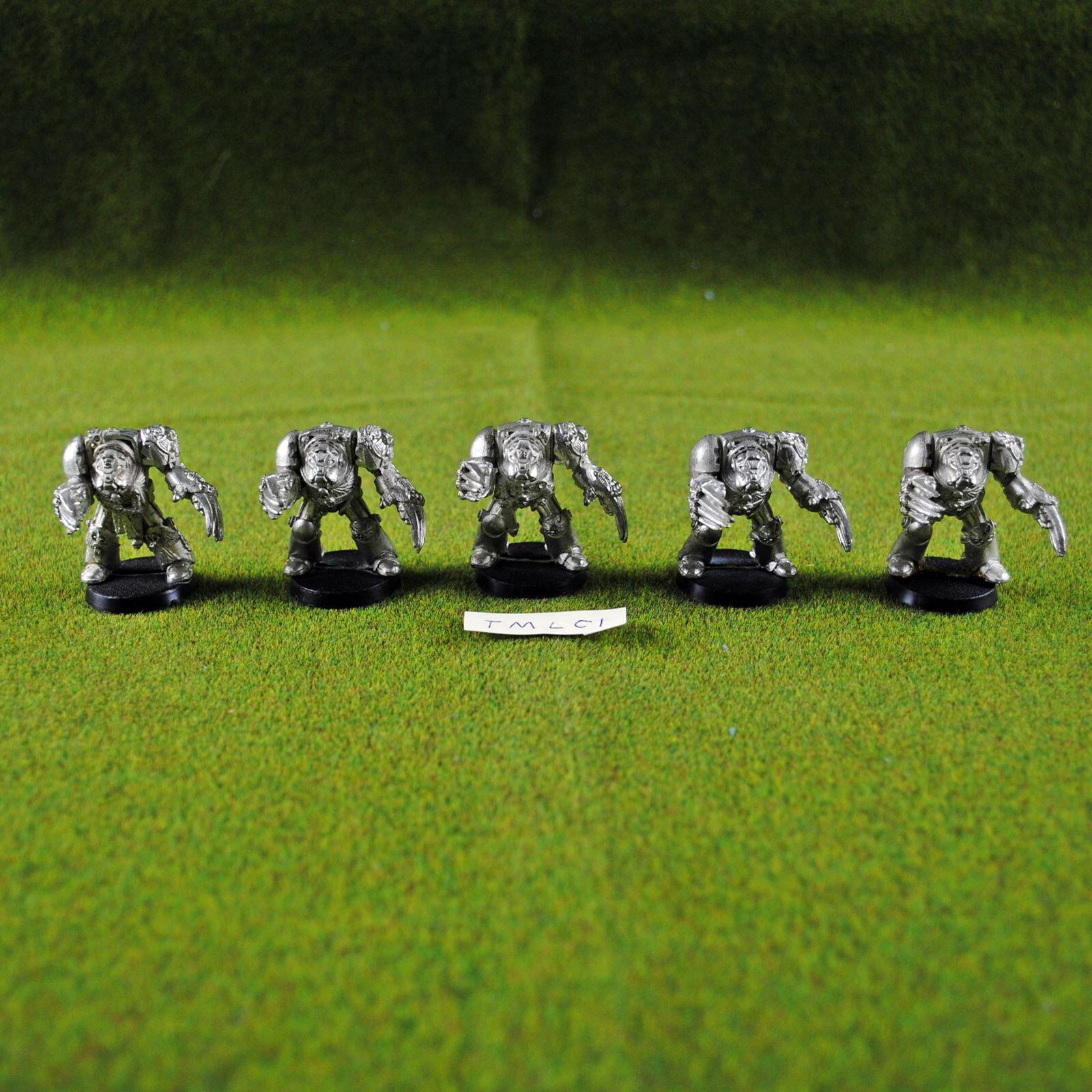 Warhammer 40K Space Marine Terminators w  Lightning Claws Metal - OOP GW Citadel