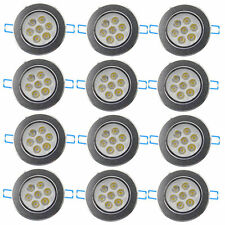 12X  7W LED Ceiling Down Light Fixture Recessed Lamp Spotlight Cool White+Driver