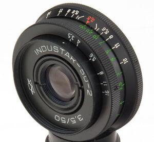 Industar-50-2-50mm-3-5-Objektiv-USSR-lens-M42-pancake-Pentax-Canon-Sony-A-tessar