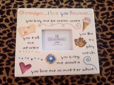 """Grandpa...I Love You"" Picture Frame~Treasured Memories by Ganz"