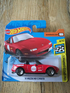 No.184//250★ ★Hot Wheels 2019-1991 MAZDA MX-5 MIATA HW Speed Graphics 4//10
