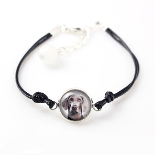 Photojewelry Weimaraner Bracelet with box for people who love dogs CA