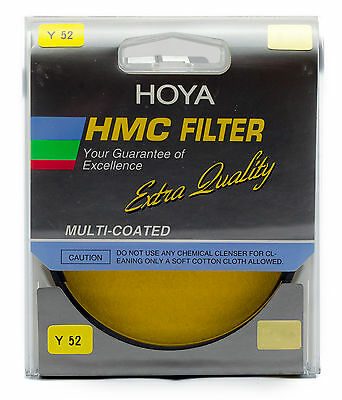 Hoya HMC 52mm Yellow Y52 Multi-Coated Filter Authorized USA Dealer A-52Y52-GB