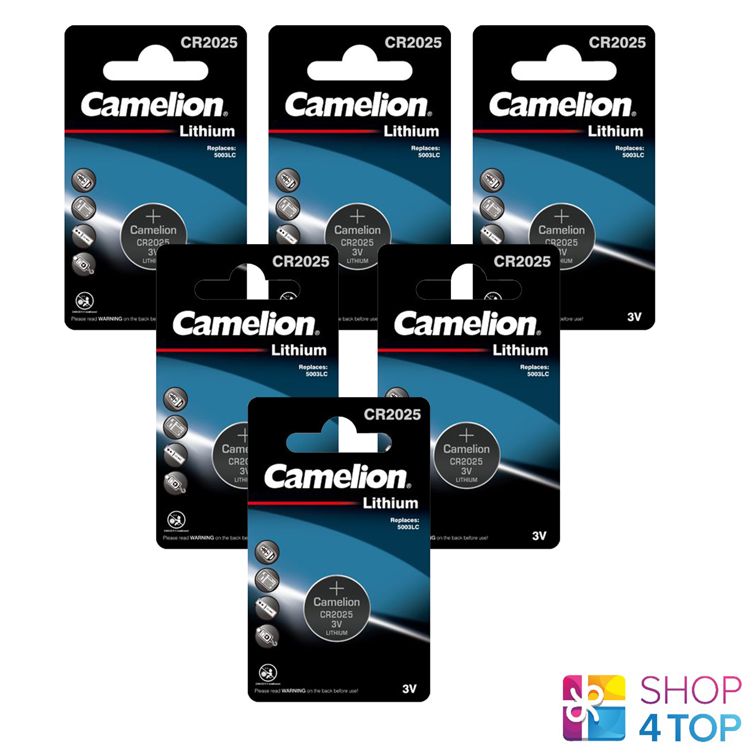 6 Camelion CR2025 Batteries Lithium 150mAh 3 V Coin Cell DL2025 1BL Exp 2028 New