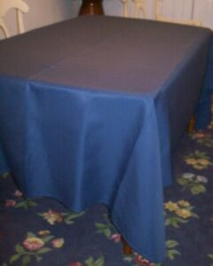 Fine Linens Textured Fabric Tablecloth Blue Oblong 70 X 104 Seats 8 10 Easter Ebay