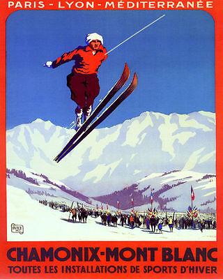 POSTER BORN TO SKI COLORADO MOUNTAINS WINTER SPORT SKIING VINTAGE REPRO FREE S//H