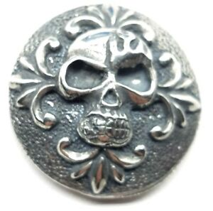 carved-skull-concho-snap-silver-leather-Gothic-biker-solid-belt-wallet-screw