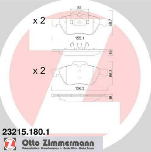 Zimmermann discos de freno pastillas de freno delantero renault Laguna III laguna coupe 4001187