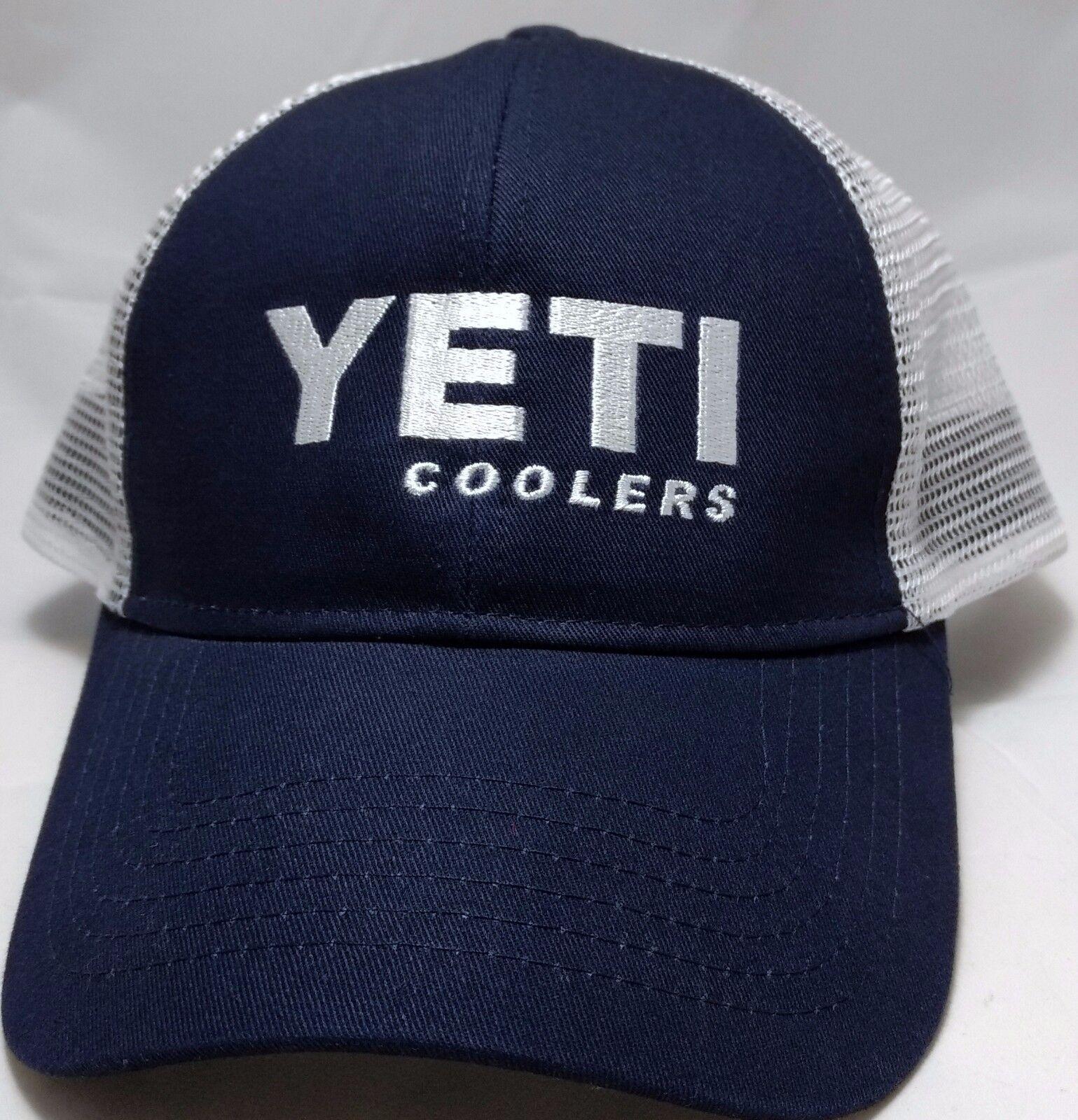 YETI COOLERS snapback hat mesh cap adjustable blue trucker mesh hat white b0a941