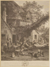 Cornelis DUSART Haarlem contadini locanda Taverna Holland mosto birra vino PIPA