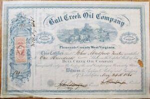 Bull-Creek-Oil-Company-1865-Stock-Certificate-Pleasants-County-West-Virginia-WV