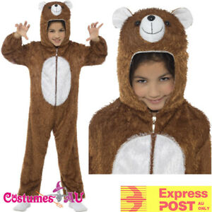 Bear-Teddy-Book-Week-Animal-Jumpsuit-Boys-Girls-Kids-Child-Costume-Fancy-Dress
