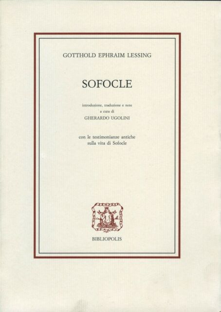 Gotthold E. LESSING Sofocle