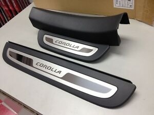 2009 2013 corolla door sill enhancements dark gray genuine. Black Bedroom Furniture Sets. Home Design Ideas