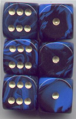 NEW Dice Set of 6 D6 (15mm) - Oblivion Blue