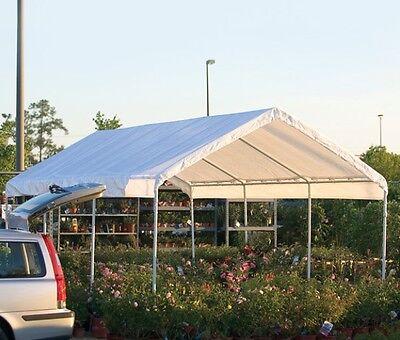 10x20x8 ShelterLogic 8 Leg Canopy Carport Portable Garage ...