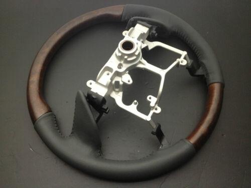 MIT Toyota TUNDRA 3rd Gen 2014-2017 wood genuine leather steering wheel