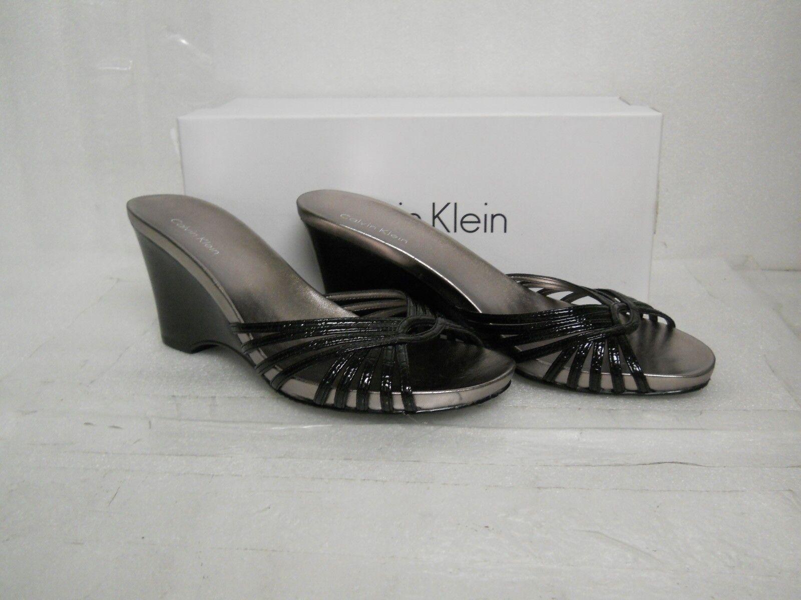 Calvin Klein NEU Damenschuhe Amanda Wedge Sandales 6.5 M Schuhes