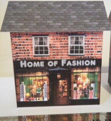 Buono Scratch Built Card Model Railway House 00 Gauge Fashion Shop Distintivo Per Le Sue Proprietà Tradizionali