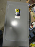 Square D H224, 200 Amp 240 Volt Fusible Nema 1 Disconnect, Series D2-