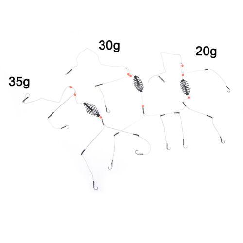 Three hooks Fishing Bait Cage lead sinker Swivel With Line Hooks For Carp PLF