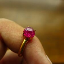 100% Natural Untreated Unheated Red Pink Spinel Burma Mogok Cabochon Ring 0