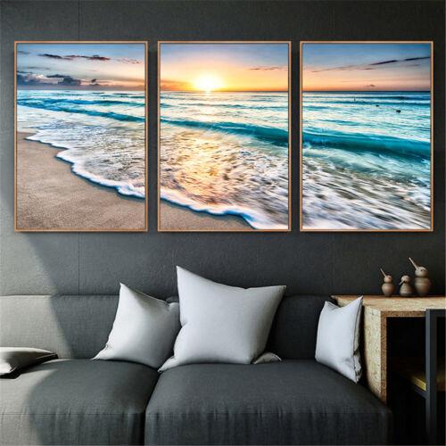 Canvas Painting Decor Home Decor Wall Art Posters Sea Landscape Beach Theme New