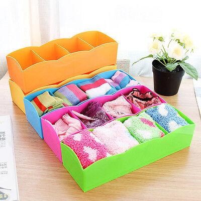 4 Fächer Aufbewahrungsbox Organizer Sammelbox Lagerbox Sichtbox Stapelbox
