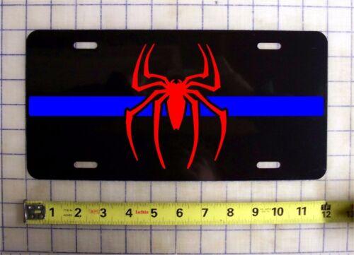 THIN BLUE LINE SPIDERMAN CUSTOM LICENSE PLATE POLICE LAW ENFORCEMENT