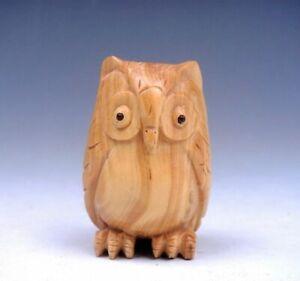 Boj-Tallado-a-Mano-Japones-Articulo-Escultura-Buho-Noche-Aguila-03102009
